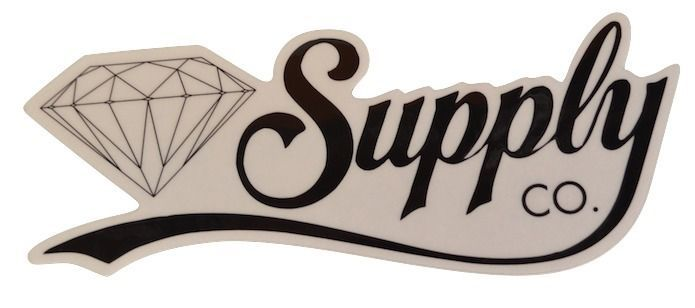 Diamond Supply Co Skateboard Sticker Script Black X 1
