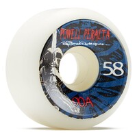 BONES WHEELS SKULL AND SWORD WHITE 58MM 90A (SET OF 4)