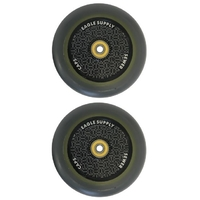 EAGLE 115MM SCOOTER WHEELS SET OF 2 HARDLINE X6 HOLLOW TECH SEWERCAPS WITH BEARINGS