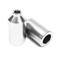 ENVY SCOOTER PEGS - SILVER - SET OF 2 WITH HIGH TENSILE AXLES - ALU