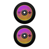 UNFAIR 110MM HOLLOW CORE SCOOTER WHEELS - NEOCHROME