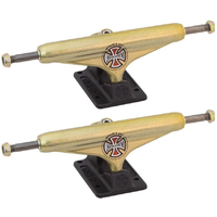 INDEPENDENT SKATEBOARD TRUCKS FORGED TITANIUM BLACK GOLD 169 - SET OF 2 TRUCKS