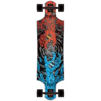 SANTA CRUZ COMPLETE LONGBOARD SKATEBOARD - FIRE AND ICE MICRO DROP