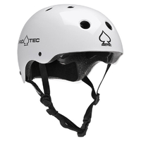 PROTEC CLASSIC BIKE CERTIFIED HELMET - GLOSS WHITE - LARGE