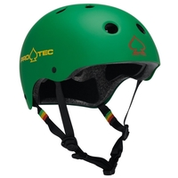 PROTEC CLASSIC BIKE CERTIFIED HELMET - RASTA GREEN - SMALL