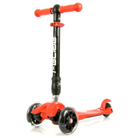 IGLIDE 3 WHEEL ADJUSTABLE SCOOTER - RED