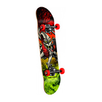 POWELL PERALTA COMPLETE SKATEBOARD - CABALLERO STORM RED/LIME