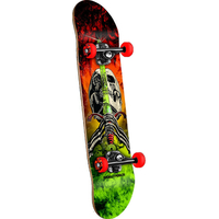 POWELL PERALTA COMPLETE SKATEBOARD - SKULL & SWORD STORM RED/LIME