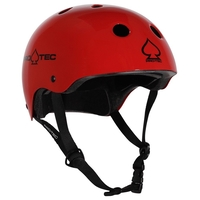 PROTEC CLASSIC BIKE CERTIFIED HELMET - GLOSS RED - SMALL