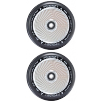 FASEN 120MM HOLLOW CORE SCOOTER WHEELS SET OF 2 - SQUARE CHROME