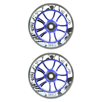 AO 110MM SCOOTER WHEELS SET OF 2 WITH BEARINGS - ENZO 2 - BLUE