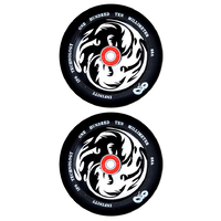 INFINITY 110MM SCOOTER WHEELS SET OF 2 WITH BEARINGS - YING YANG