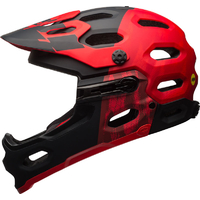 BELL SUPER 3R - 2017 MIPS - MTB HELMET - RED / BLACK