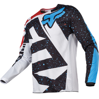FOX KIDS 180 NIRV LS 2017 - MTB JERSEY - RED / WHITE