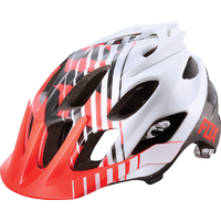 FOX FLUX SAVANT 2015 - MTB HELMET - RED WHITE