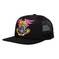 SANTA CRUZ - NATAS PANTHER TRUCKER - BLACK SNAPBACK HAT