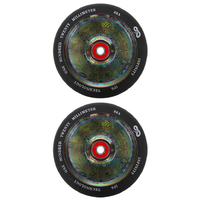 INFINITY 120MM SCOOTER WHEELS SET OF 2 WITH BEARINGS - NEOCHROME