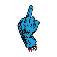 SANTA CRUZ FINGER STICKER BLUE X 1