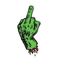 SANTA CRUZ FINGER STICKER GREEN X 1