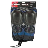 187 COMBO PACK - KNEE AND ELBOW PADS - SIZE LARGE TO XL - BLUE