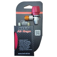 KWT AIR REGO 2 X 16G C02 CARTRIDGES WITH SCREW REGULATOR