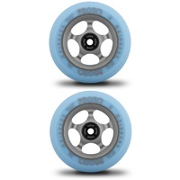 PROTO GRIPPERS 110MM SCOOTER WHEELS SET OF 2 - FADED - PASTEL BLUE GHOST GREY