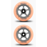PROTO GRIPPERS 110MM SCOOTER WHEELS SET OF 2 - FADED - PASTEL ORANGE GHOST GREY