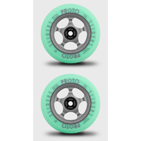PROTO GRIPPERS 110MM SCOOTER WHEELS SET OF 2 - FADED - PASTEL GREEN GHOST GREY