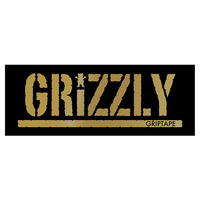 GRIZZLY SKATEBOARD STICKER - GOLD STAMP X 1