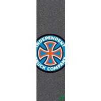 "MOB SKATEBOARD GRIP TAPE SHEET - 9"" x 33"" - INDEPENDENT LOGO BLUE - PERFORATED"