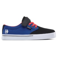 ETNIES KIDS SKATE SHOE - JAMESON 2 V - BLACK / BLUE / WHITE