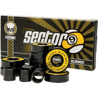 SECTOR 9 BLACK BALL CERAMIC BEARINGS SET OF 8