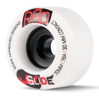 RAD GLIDE 70MM 78A LONGBOARD SKATEBOARD WHEELS - WHITE