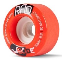 RAD GLIDE 70MM 78A LONGBOARD SKATEBOARD WHEELS - RED