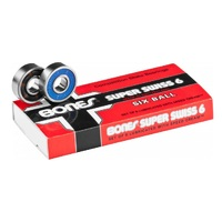 BONES SUPER SWISS SKATEBOARD BEARINGS 8 PACK - GENUINE