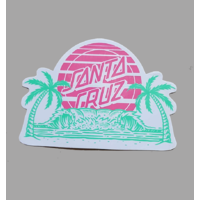 SANTA CRUZ A FRAME PINK STICKER X 1