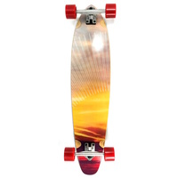"ARK RED SUNSET 38"" KICKTAIL LONGBOARD SKATEBOARD COMPLETE"