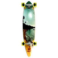 "ARK SANDY BEACH 42"" PINTAIL LONGBOARD SKATEBOARD COMPLETE"