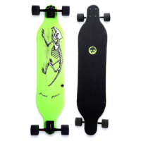 "GRAND GOPHER 38"" LONGBOARD SKATEBOARD COMPLETE - DEAD GREEN"