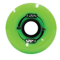 G & S WHEELS 70MM 78A GREEN