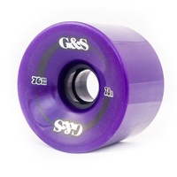 G & S WHEELS 76MM 78A PURPLE