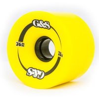 G & S WHEELS 76MM 78A YELLOW