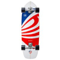 CARVER SKATEBOARD COMPLETE - USA BOOSTER WITH CX TRUCKS SILVER