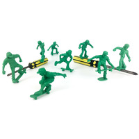 TOYBOARDERS PRO 1 TOY SKATEBOARDERS - GREEN - 16 PACK
