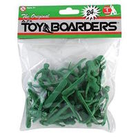 TOYBOARDERS SNOW 1 TOY SNOWBOARDERS - GREEN - 24 PACK