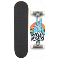 "SEVEN COMPLETE SKATEBOARDS 8.25"" - PEACE OUT"