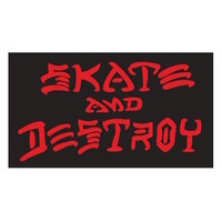 THRASHER SKATE & DESTROY STICKER MEDIUM - BLACK