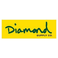 DIAMOND SUPPLY CO STICKER - OG SCRIPT - YELLOW