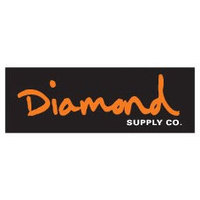 DIAMOND SUPPLY CO STICKER - OG SCRIPT - BLACK ORANGE