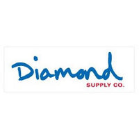 DIAMOND SUPPLY CO STICKER - OG SCRIPT - WHITE BLUE